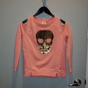 Crazy 8 girls Sequins skull sweatshirt